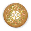 Christmas cookie round