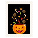 Stamp candy pumpkin halloween