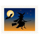 Stamp witch halloween