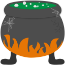 Bubbling cauldron halloween