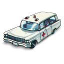 Cadillac ambulance matchbox
