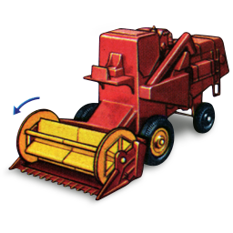 Combine harvester with matchbox movement