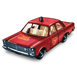 Fire chief car matchbox