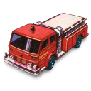 Fire pumper matchbox
