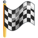 Flag checkered goal