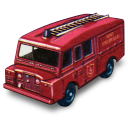 Land rover fire truck matchbox