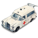 Mercedes benz ambulance with matchbox open