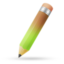 Pencil green brown