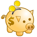 Deposit piggy bank save money
