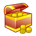 Gold treasure chest