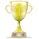 Winner trophy gold