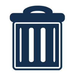 Trash Recycle Bin Garbage Vector Night 48px Icon Gallery