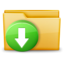 Download folder arrow