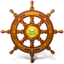 Navigate ship pirate wheel