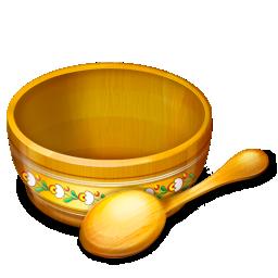 Food Spoon Eat Bowl Ukranian Motifs 128px Icon Gallery