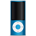 Blue ipod apple