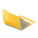 Open folder yellow