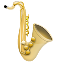 Music instrument jazz saxophone