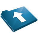 Upload blue arrow up folder