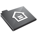 Grey home house folder