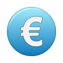 Currency blue euro