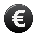 Euro currency black