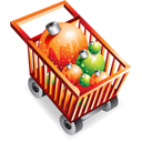Full ecommerce christmas shoppingcart