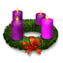 Advent christmas wreath