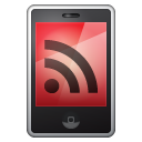 Iphone feed mobile rss red