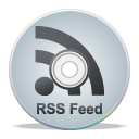 Compact disk rss grey feed cd