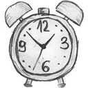 Time history clock alarm