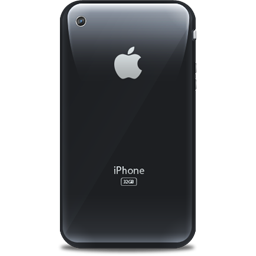 Retro black iphone apple