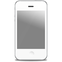 Apple white iphone front
