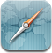 Safari browser compass