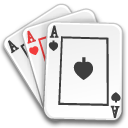 Poker cards game aces
