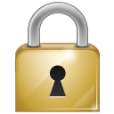 Private secure locked lock log in login