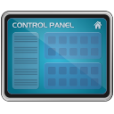 Monitor control panel screen