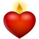 Candle valentines day heart love
