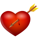 And arrow heart