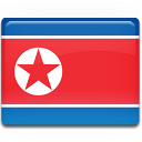 Korea flag north