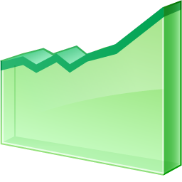 Line graph chart graphic