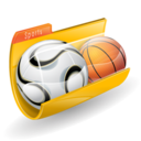 Basket folder sport soccer