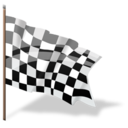 Flag goal checkered finish