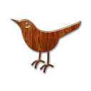 Bird animal twitter wood birdo