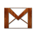 Logo gmail wood