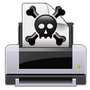 Print dead skull error crossbones printer poison