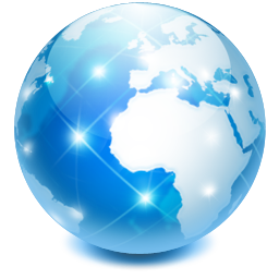 Earth world network browser internet globe