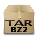 Tar bzip x compressed application