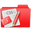 Web design red css folder edit