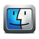 Finder mac os x face mettalic apple